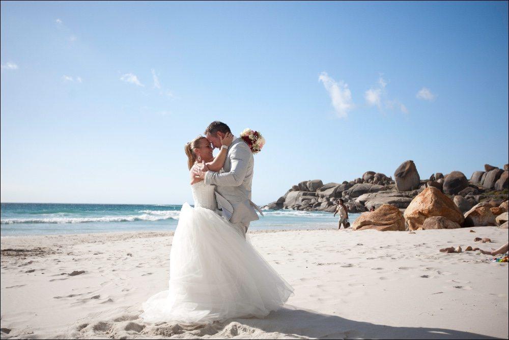 Trouwen in Zuid-Afrika kan dus ook op het strand