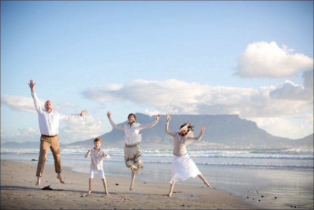 Op het strand van Kaapstad je geweldig trouwen en ook hele mooie foto's maken