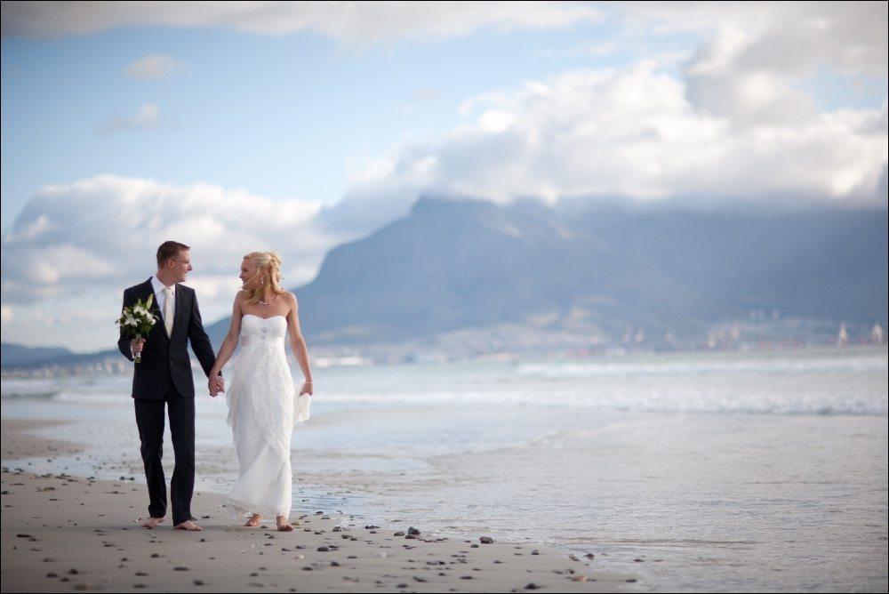 Foto's Kaapstad bruiloft: Waarom niet trouwen op het strand van Kaapstad: ook een Kaapstad bruiloft