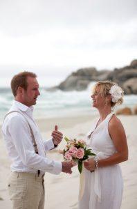 Elkaar het ja-woord geven op het strand van Kaapstad