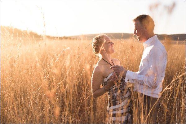 Safari bruiloft fotogalerij, één droombruiloft