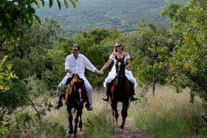 Fotogalerijen trouwen te paard