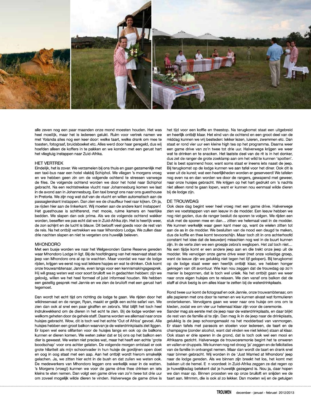 Sarari bruiloften in de media Vicky en Sander 2