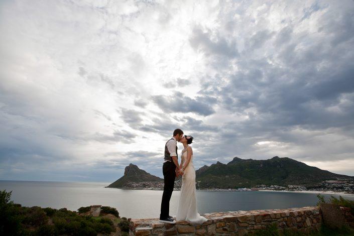 zonsondergang foto's kaapstad bruiloft
